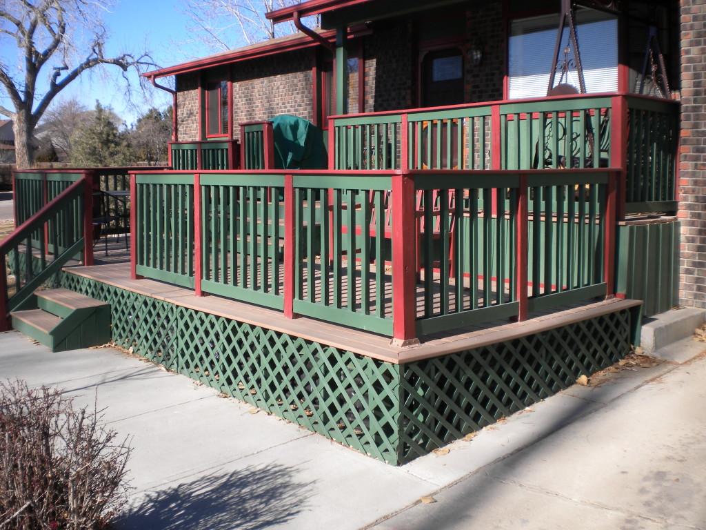 A split-level front porch!