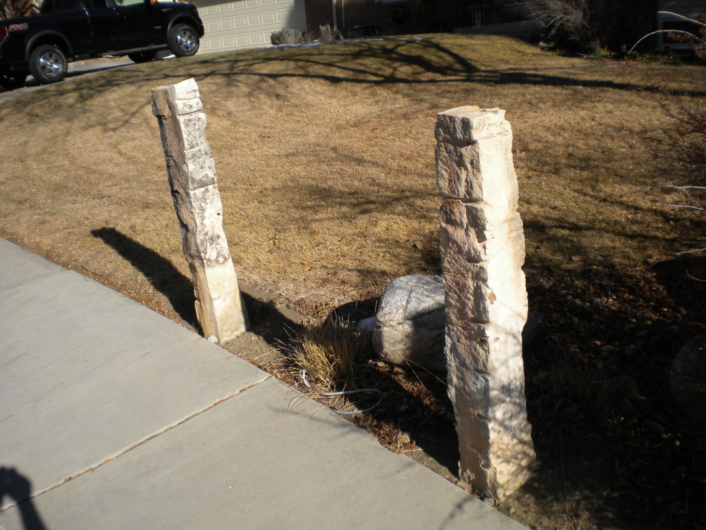 stone fence posts ala Central Kansas
