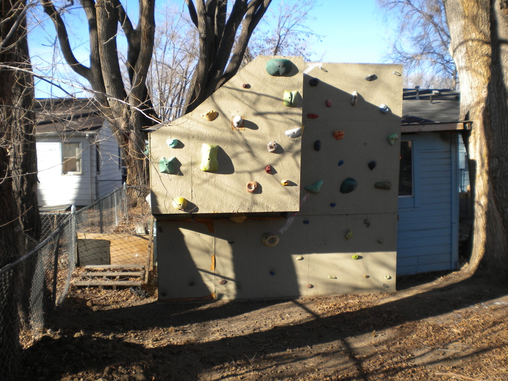 A backyard climbing wall?