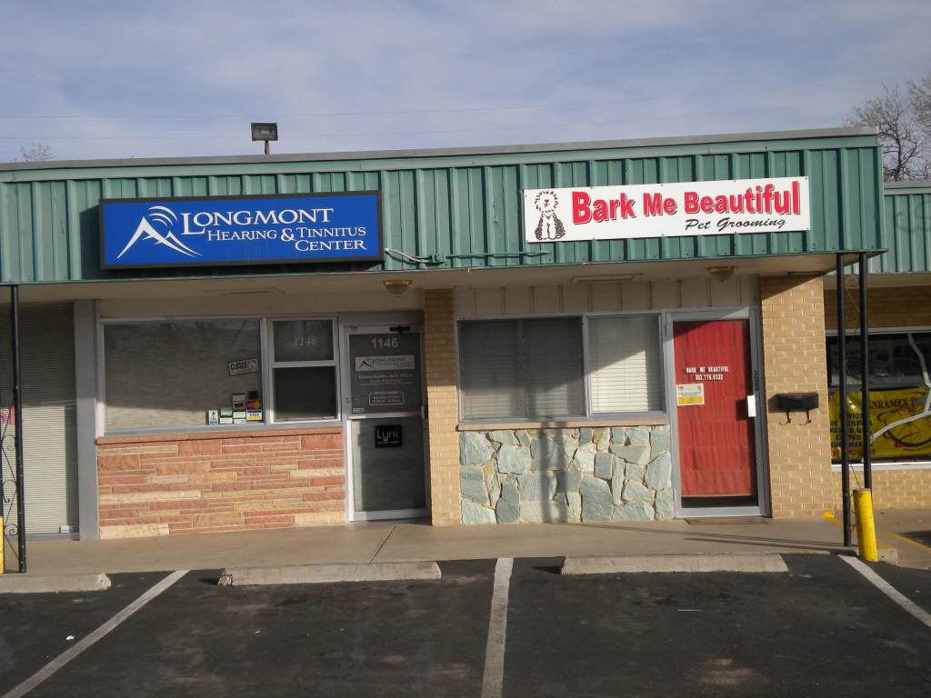Jennifer's former dental office.  Next door to a good dog grooming service