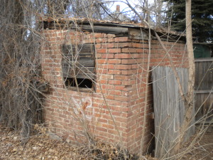 old brick shed