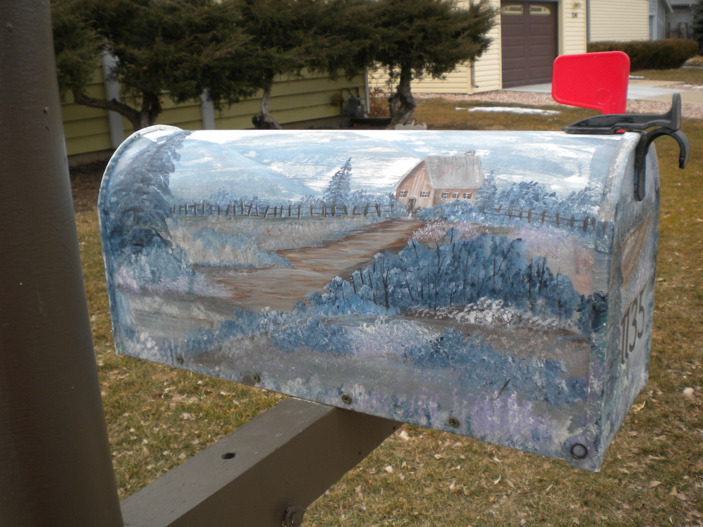 Mailbox of the day -- nice artwork