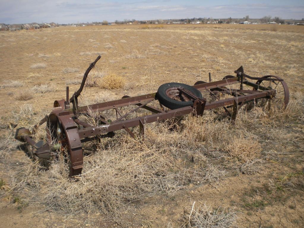 Old farm machinery (a disc?)