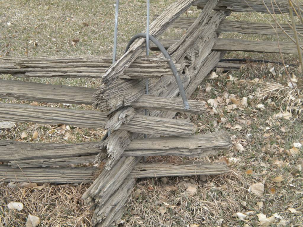 picturesque rustic fence