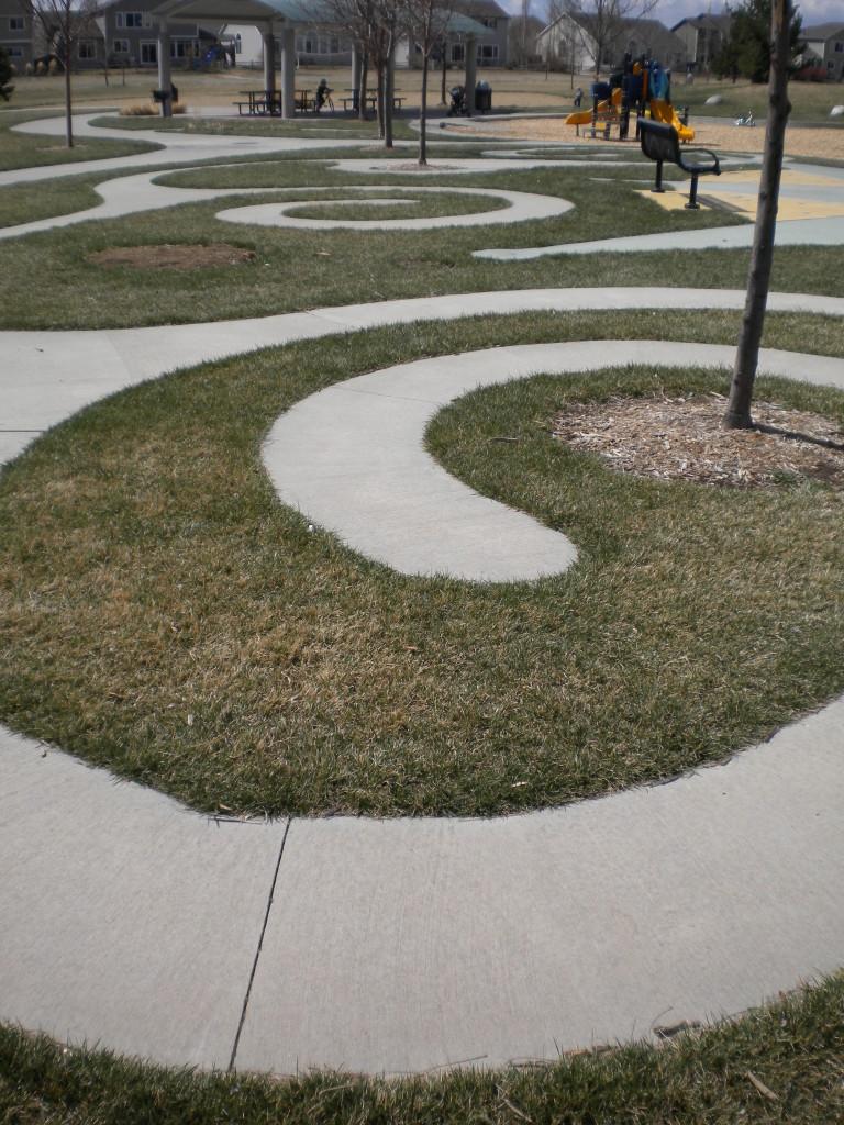Curvy sidewalks