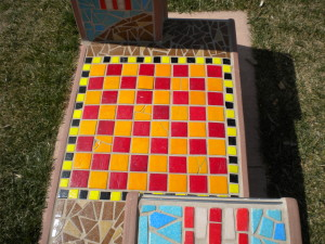 colorful chessboard
