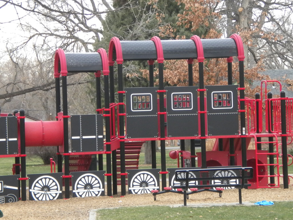 Playground train at Collyer Park