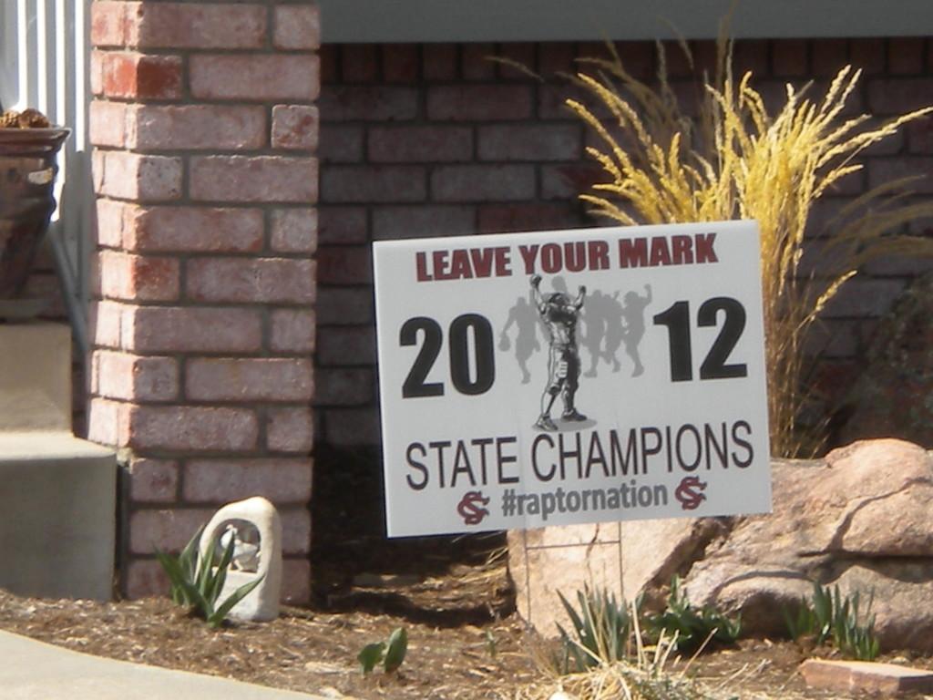 Silver Creek Raptors --- 2012 state football champions 3A