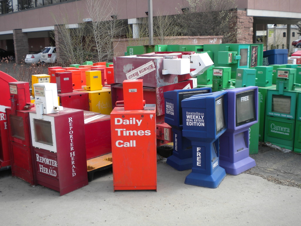 where old newspaper boxes go to die