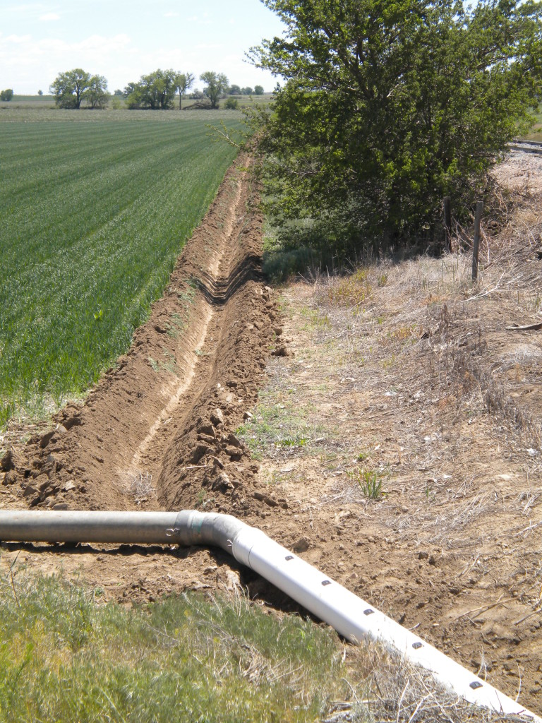 It's been years since i've seen an irrigation ditch.  I don't think it's using siphon tubes, though.