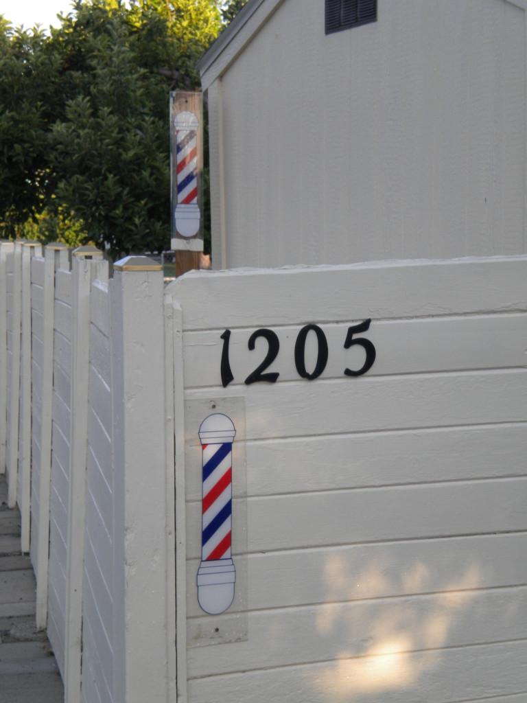 perhaps a neighborhood barber shop?