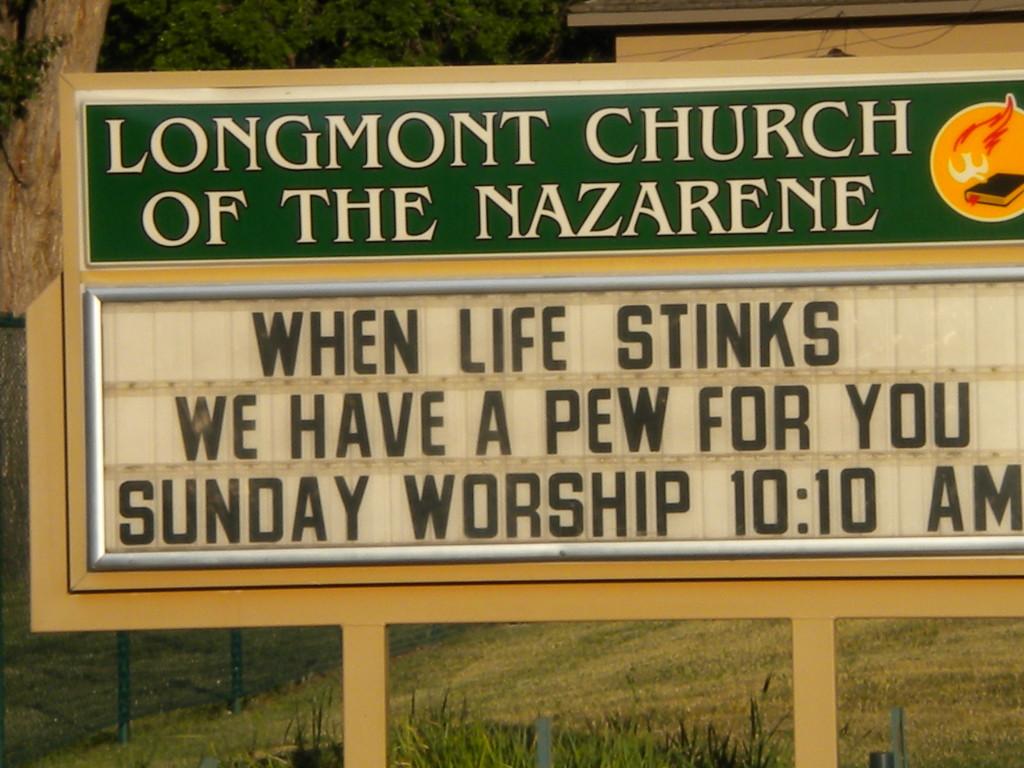 Cute church sign