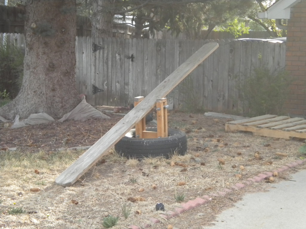 Front yard seesaw