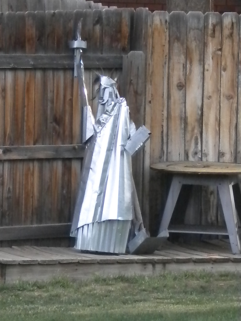 Back yard Statue of Liberty