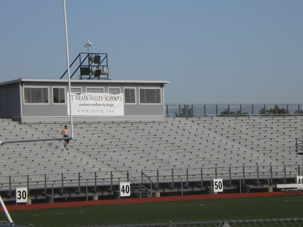 Running the steps at Everly-Montgomery field
