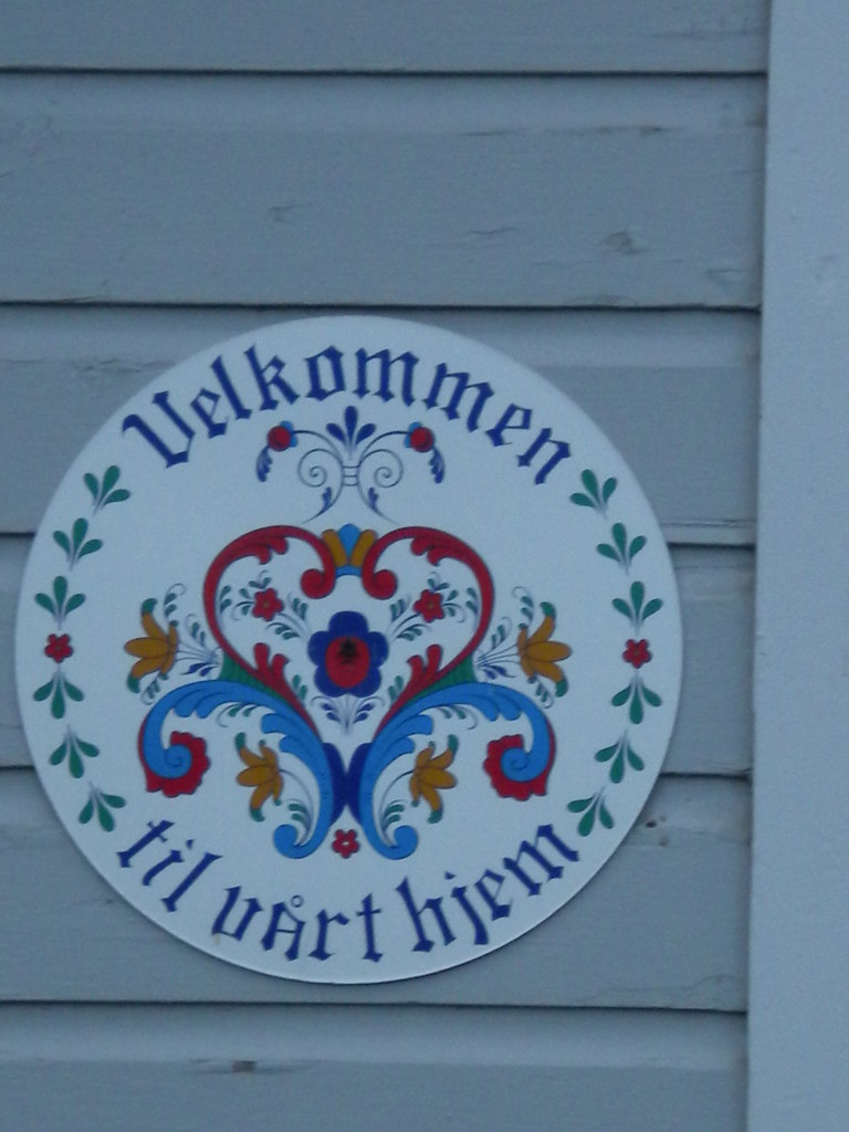 I believe this is Norwegian  for 'Welcome to our home'