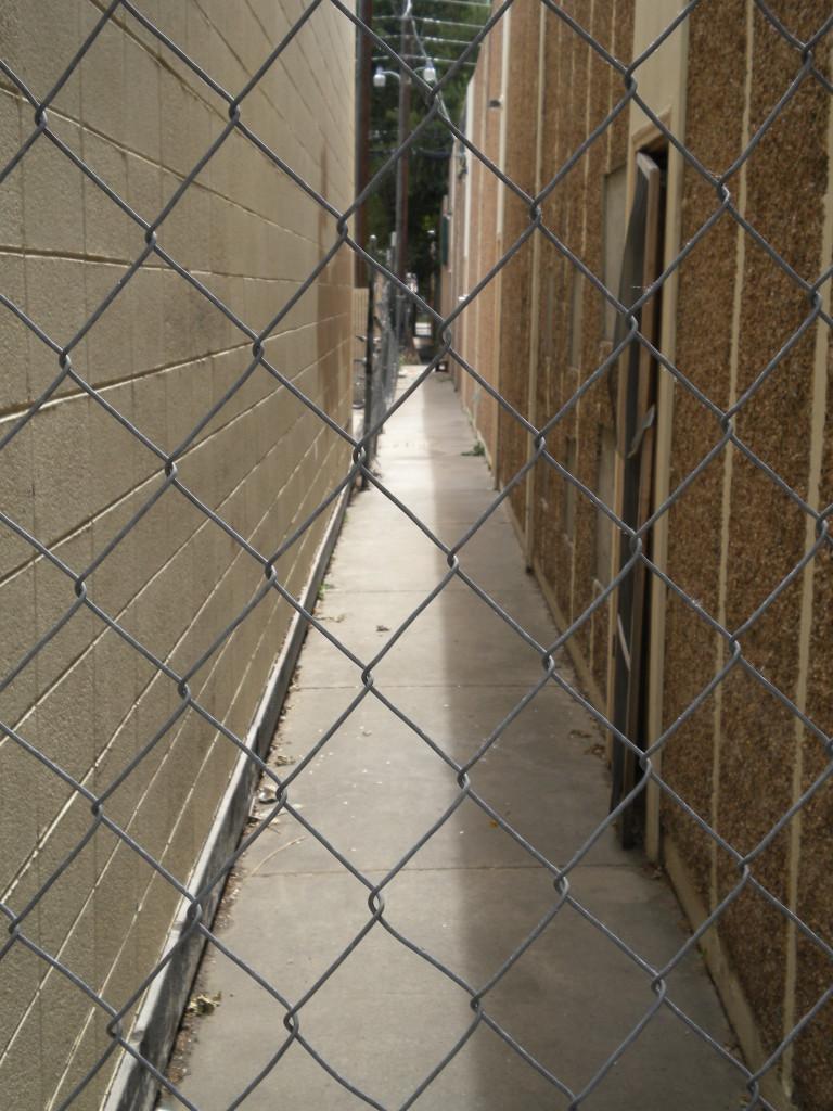 narrow non-walkway