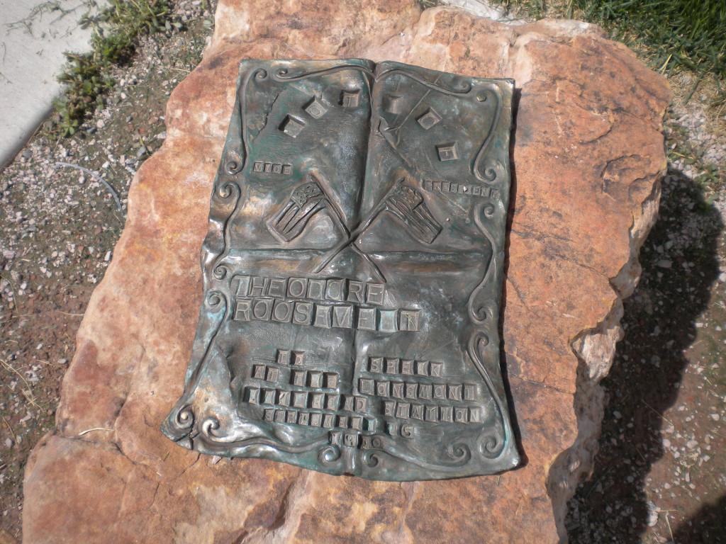 plaque in park