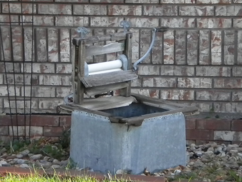 Front yard washing machine of yesteryear