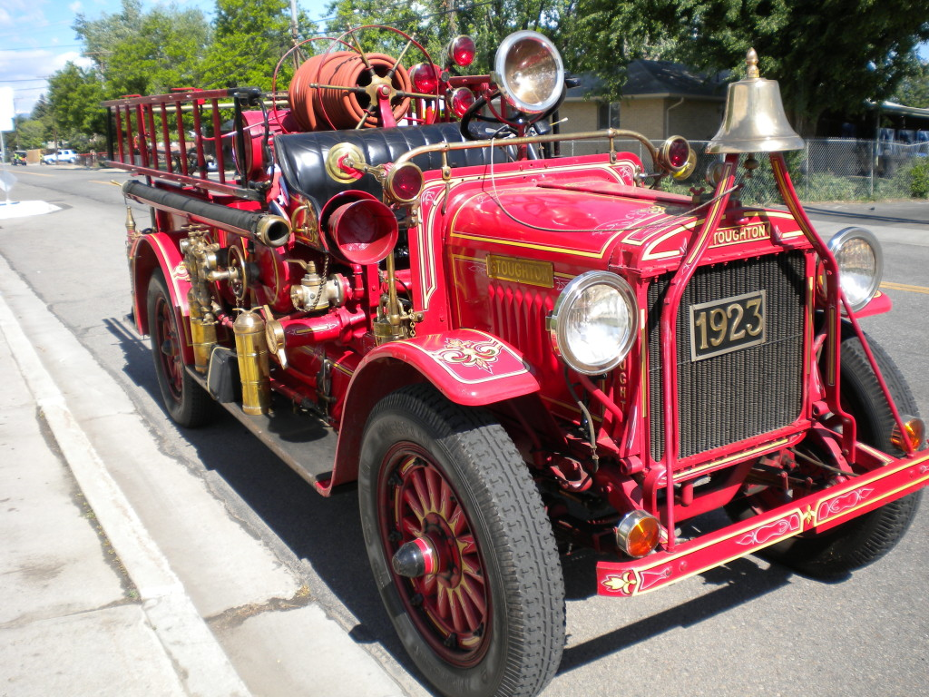 Old fire truck participated in the festivities