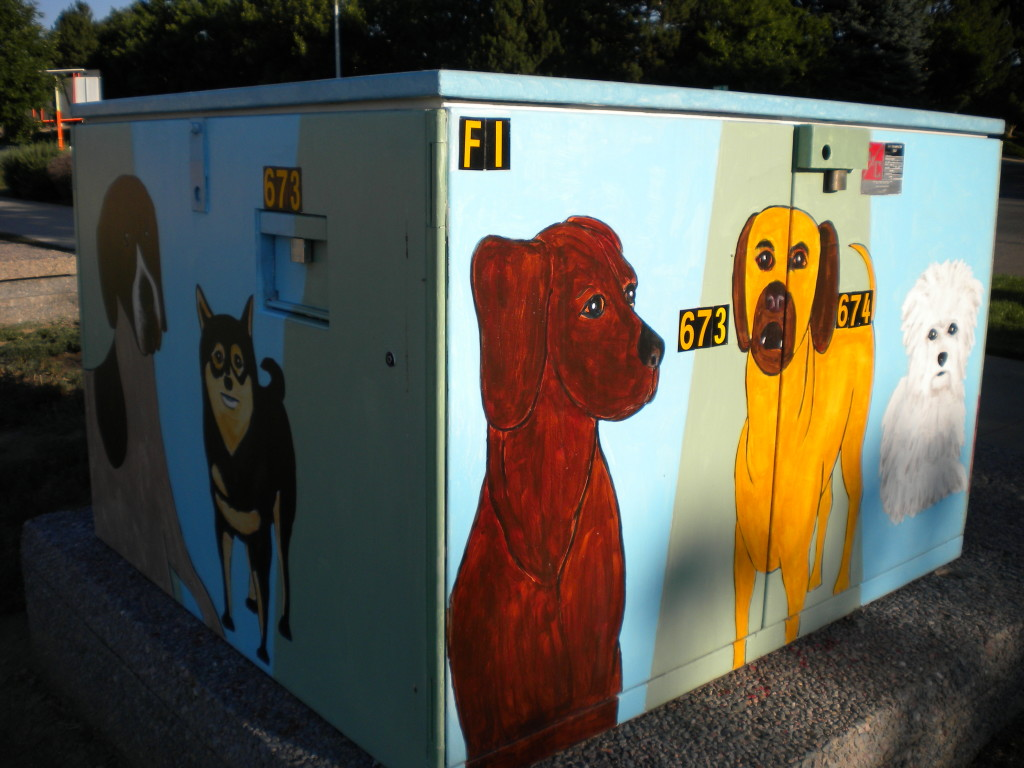 Dog electrical box art # 2