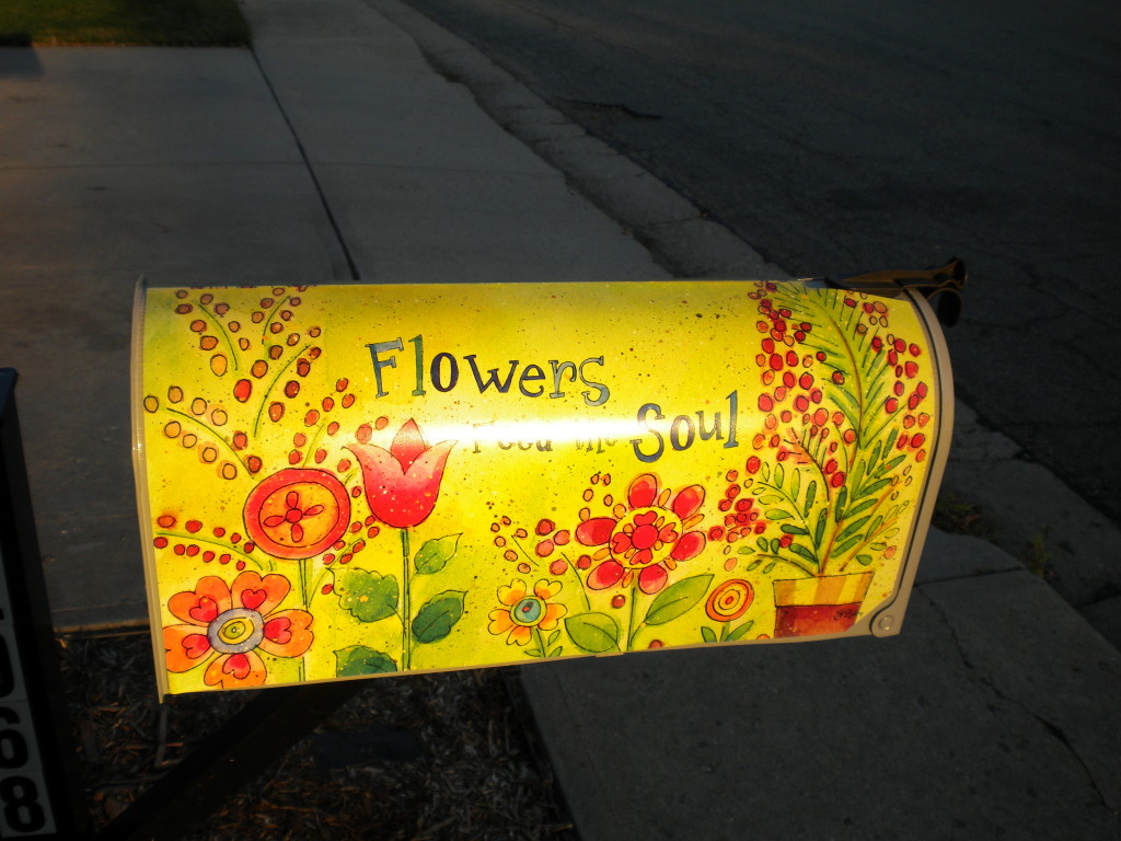"""flowers free the soul"", if I remember correctly (glare)"