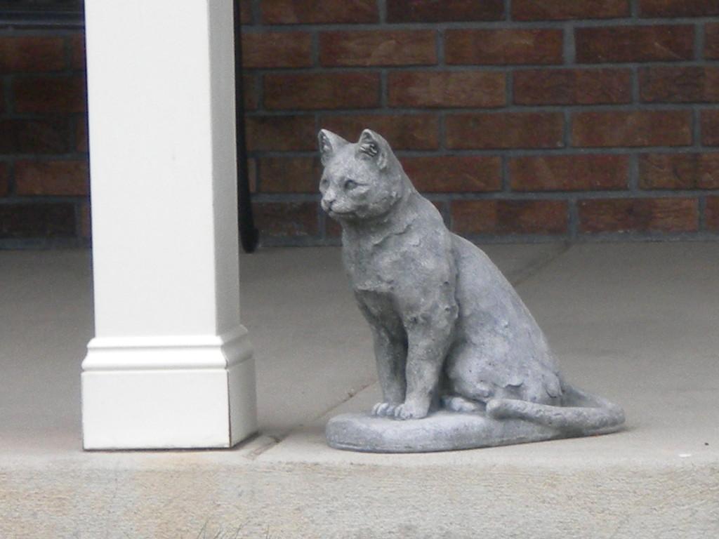a rare cat statue