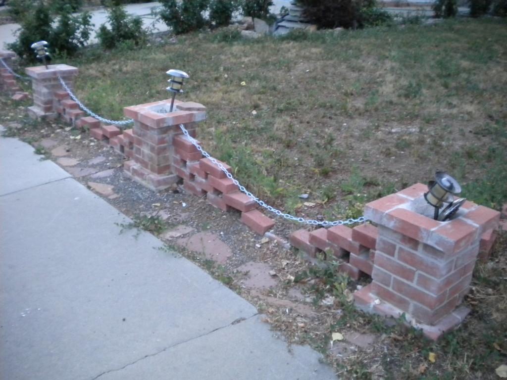 low brick fence