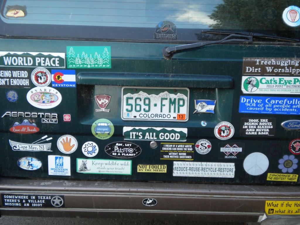 Bumper stickers galore