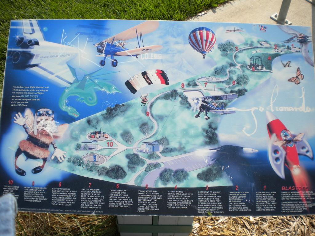 Blue Skies Park plaque