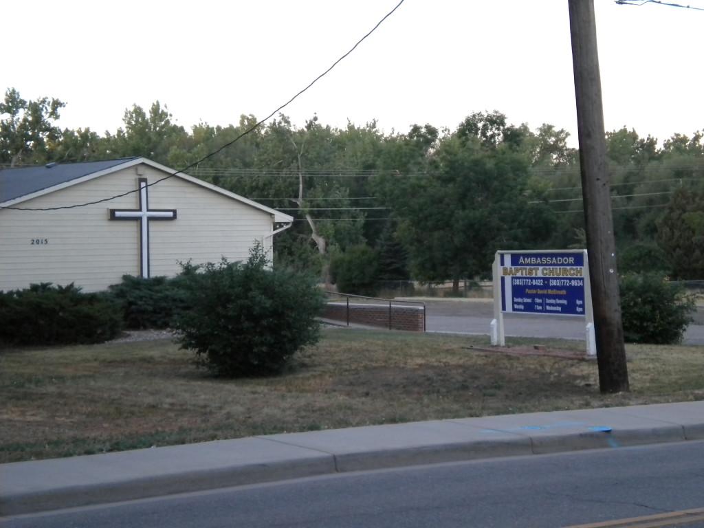 Baptist church across 3rd