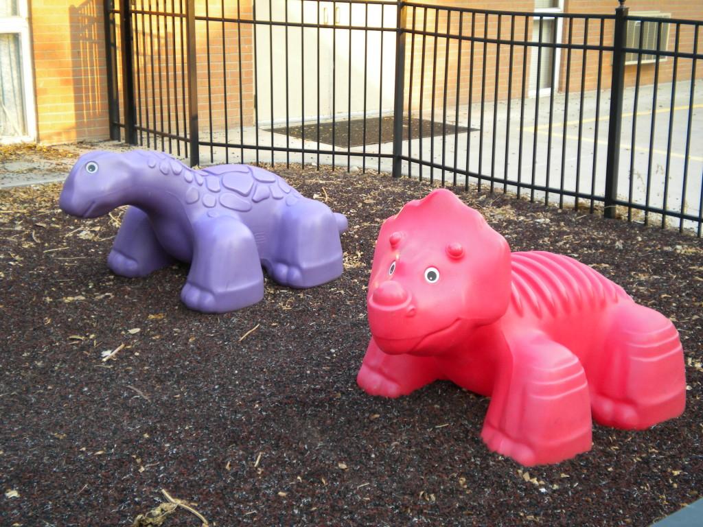 Dinosaurs outside Bethlehem
