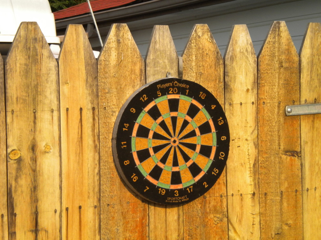 Alley dartboard