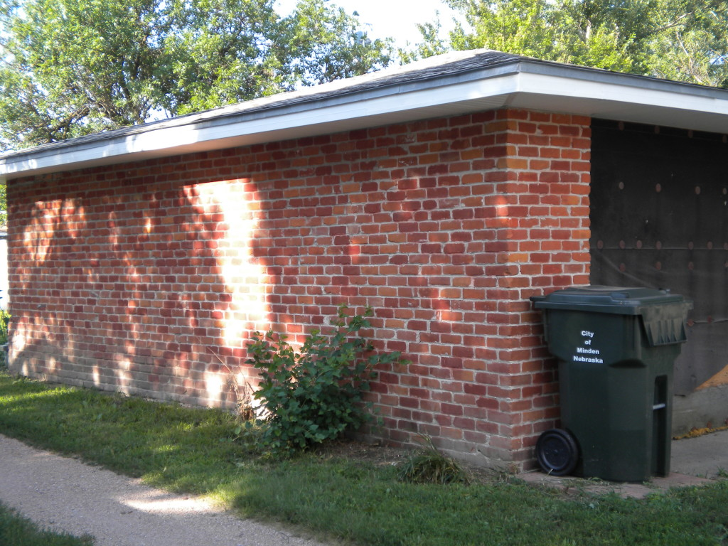 Old brick garage