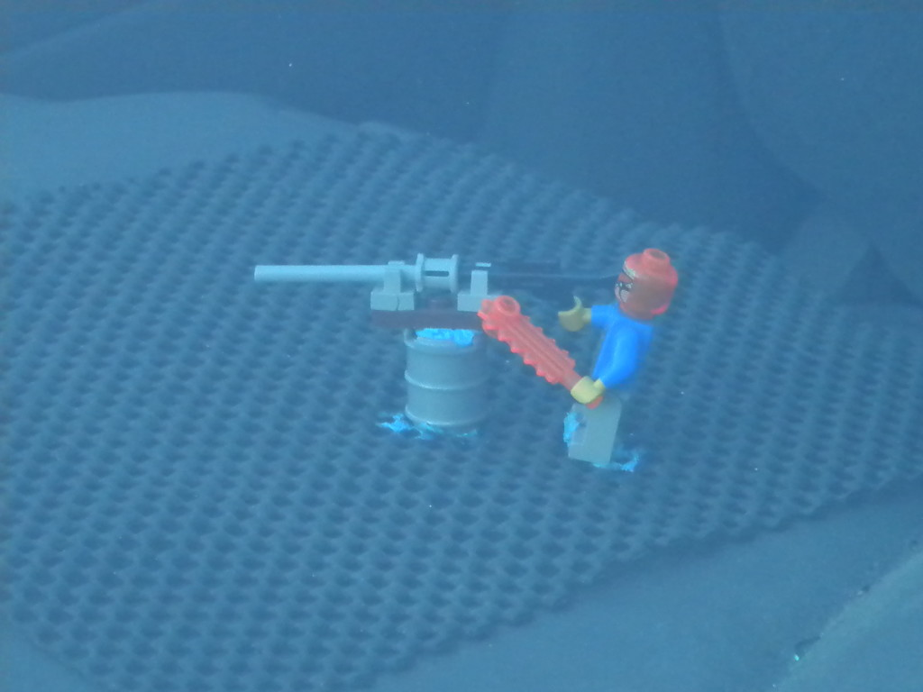 Dashboard machine gun nest (Lego-style)