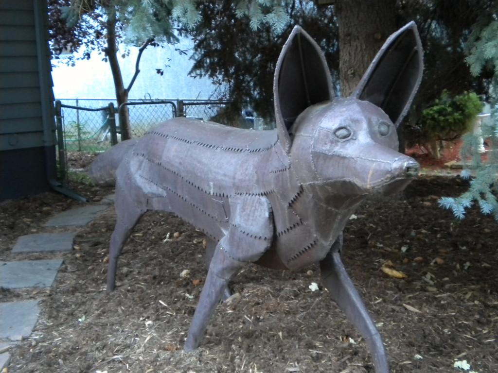 GIANT dog (?) statue
