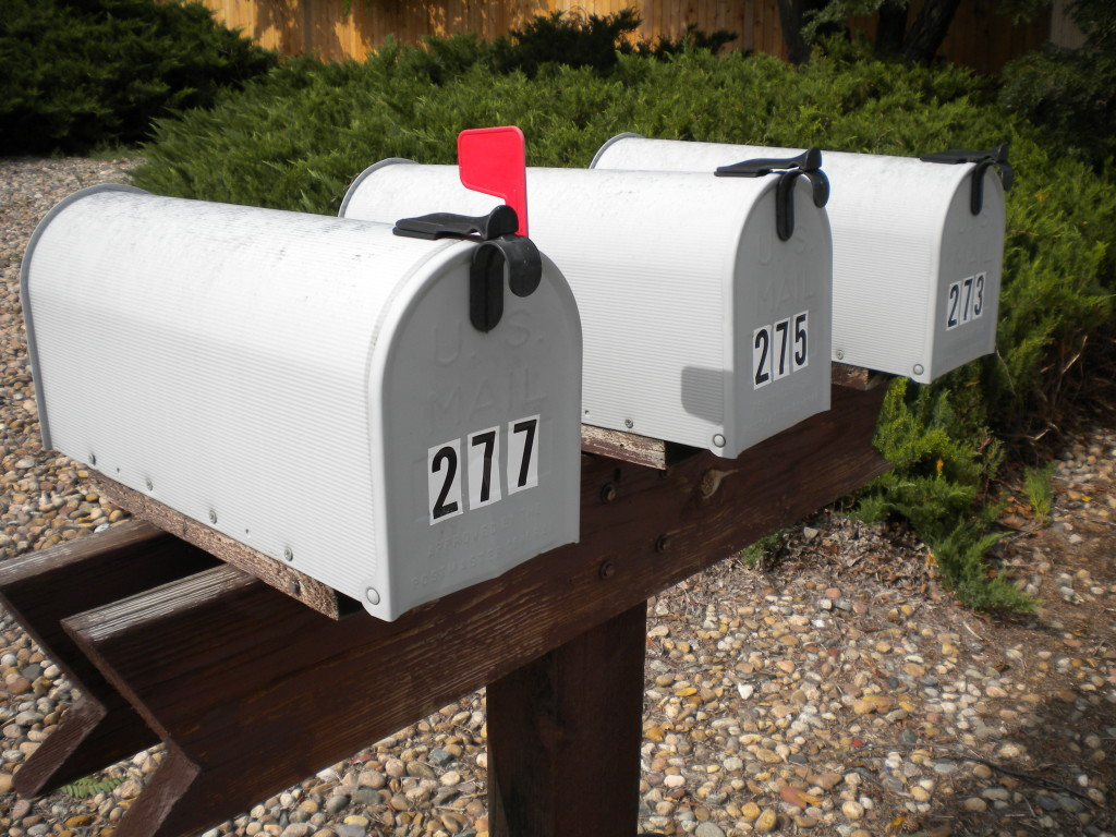 more triple mailboxes, as noted in September 8th post