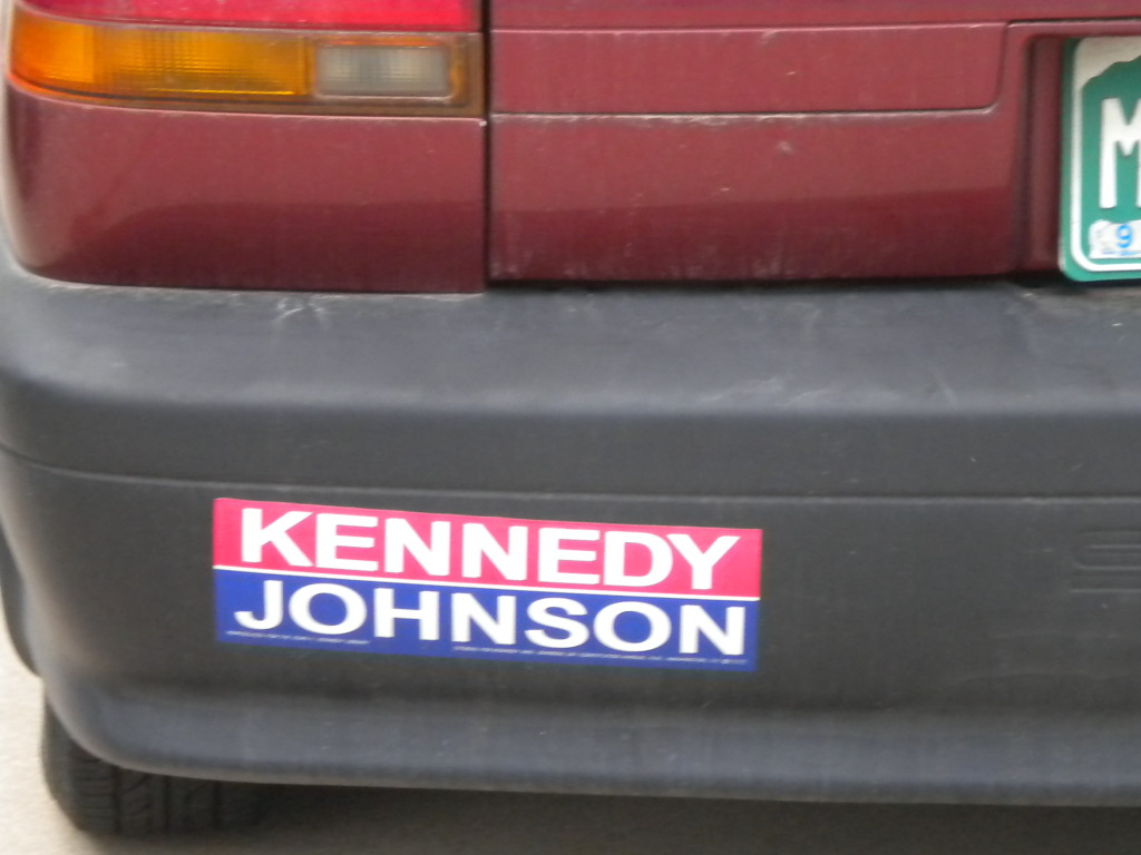 I'm pretty sure this car is too new for this bumper sticker...
