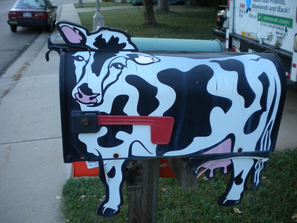cow mailbox
