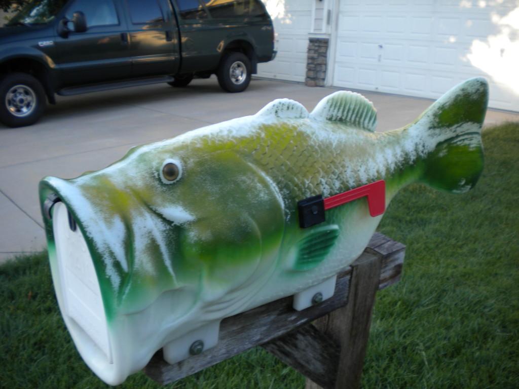 Fish swallowing mailbox