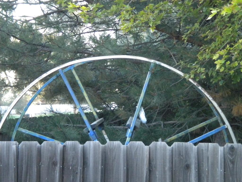 back yard wheel?