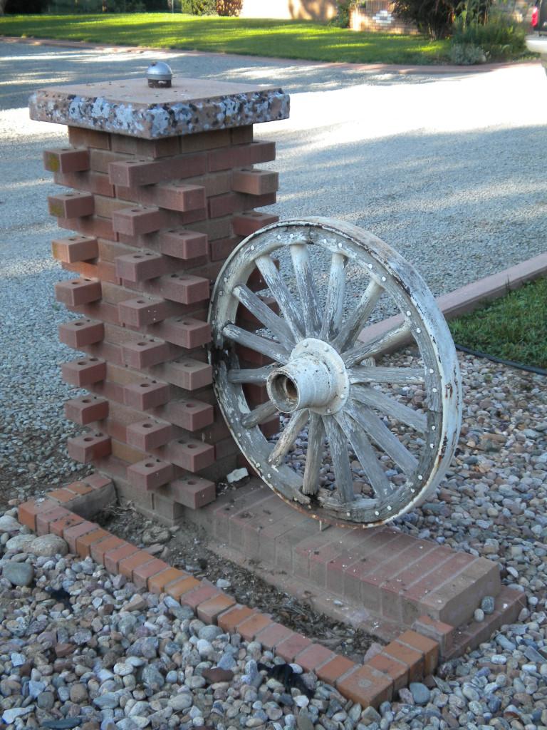 Bricks and wheel
