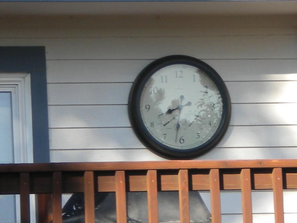 back deck clock