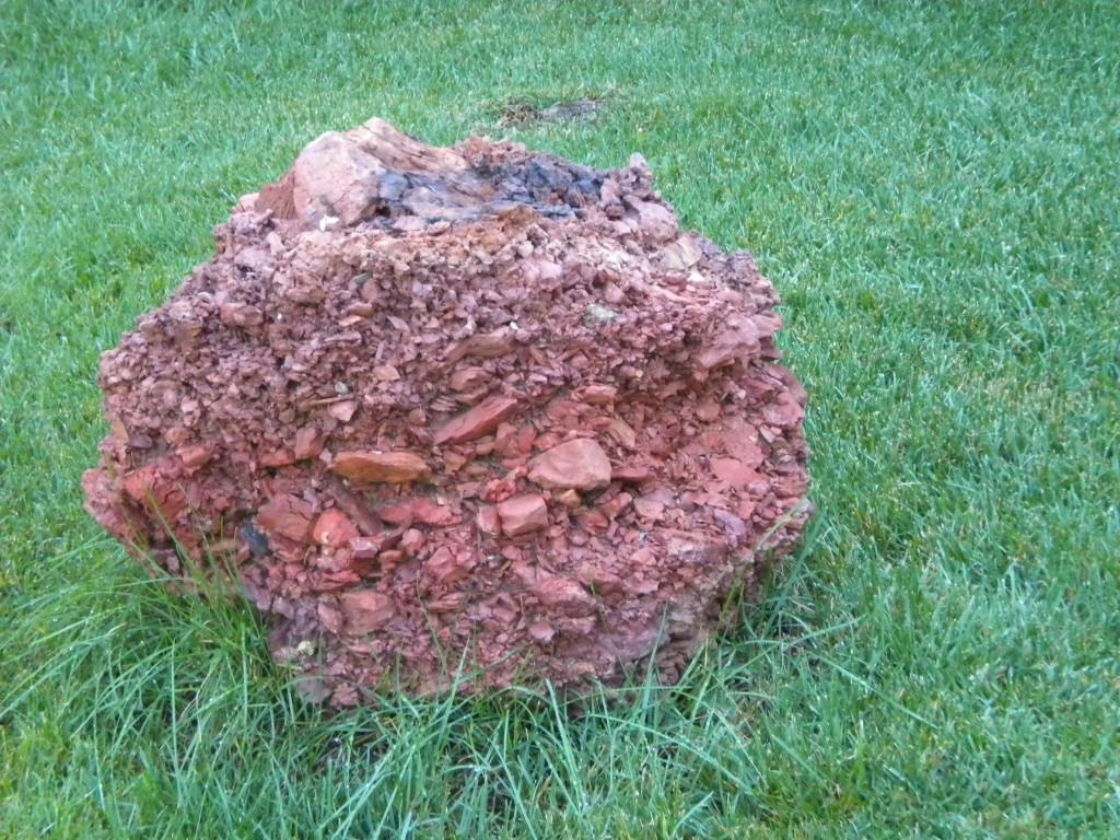 interesting front yard rock