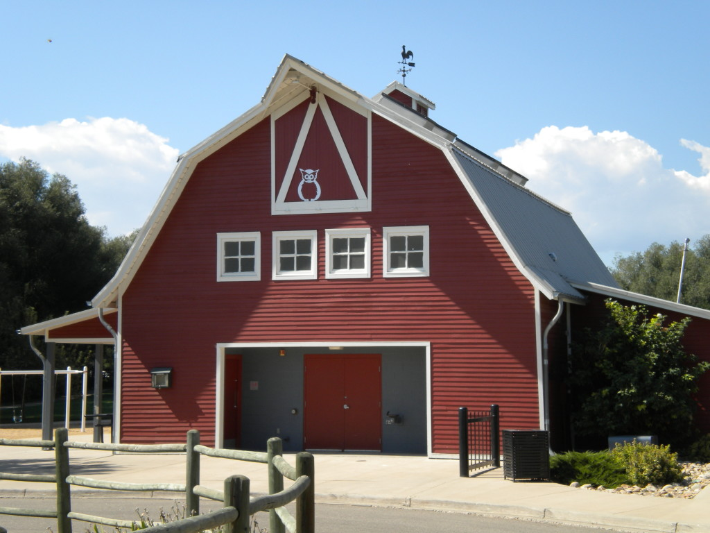 Front side of barn