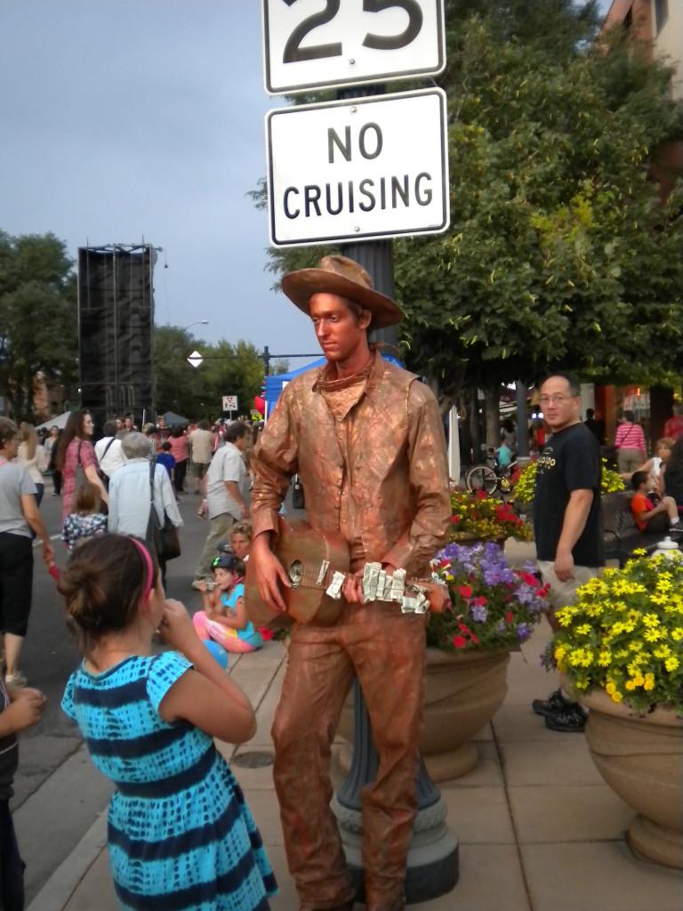 Cowboy musician statue # 1
