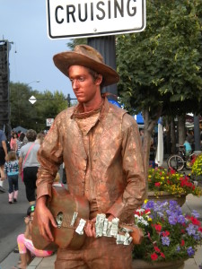 Cowboy musician 'statue' # 2