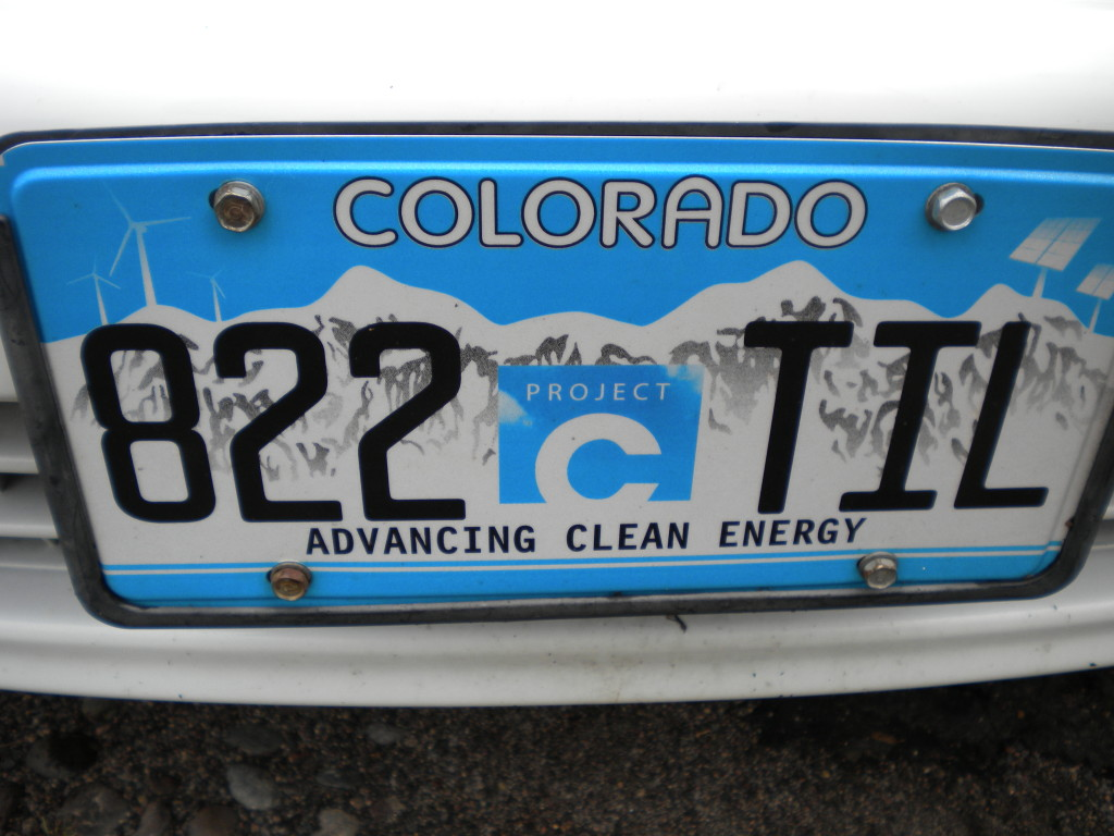 Clean Energy license plate