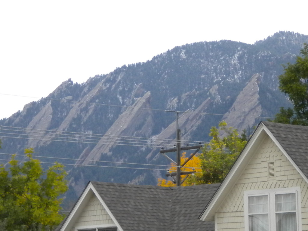 Flatirons in the distance