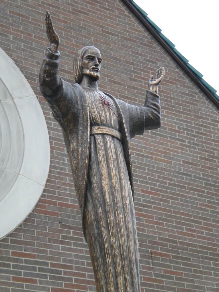 Catholic church statue
